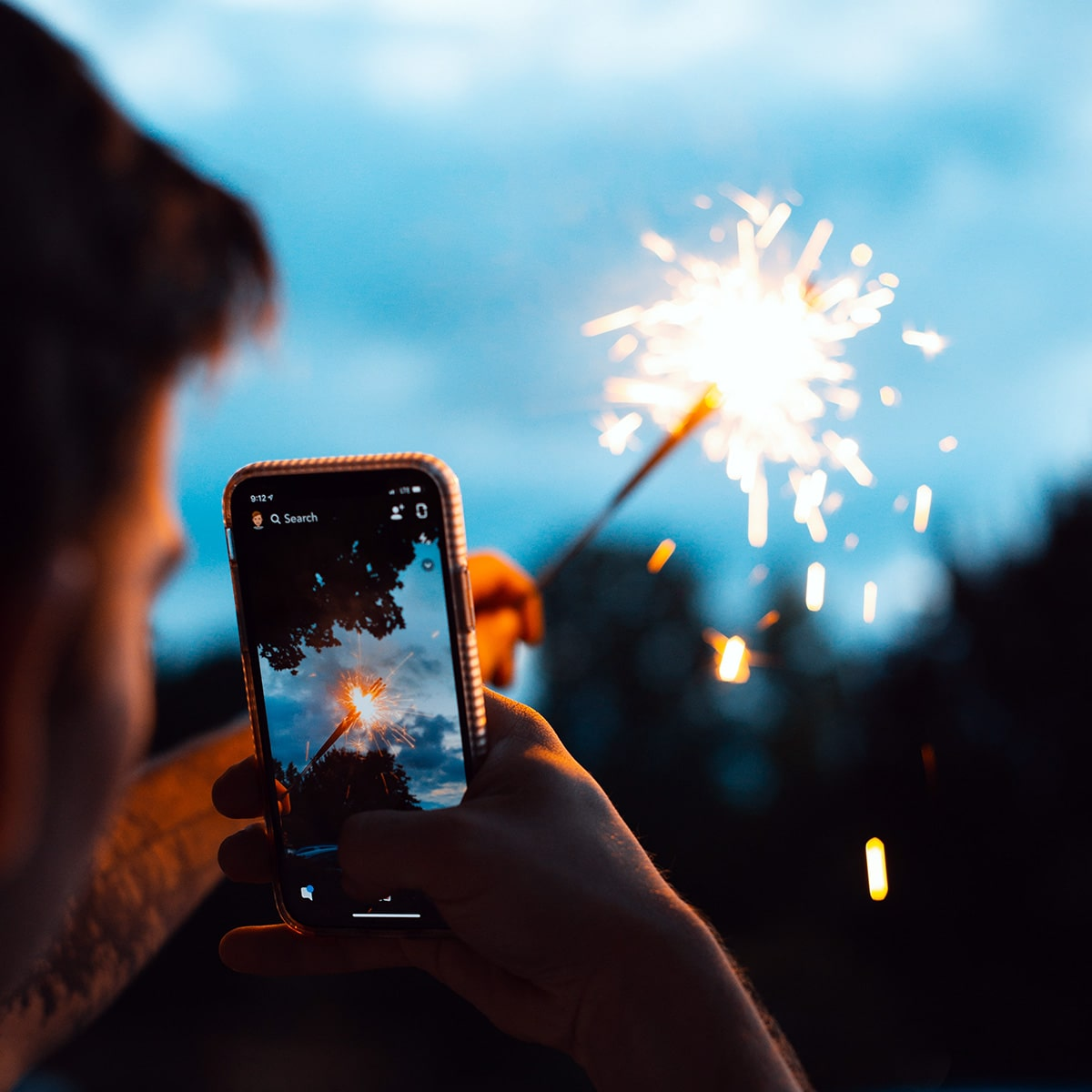 Image of Photographing Wedding Sparklers with a Smartphone