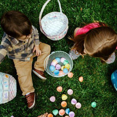 Image of Children Enjoying an Egg Hunt