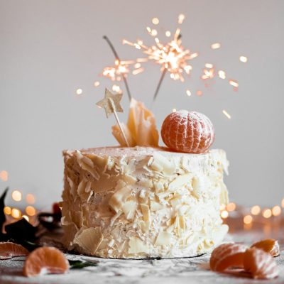 Image of Sparklers on an Cake for Easter