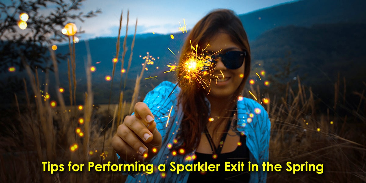 Tips for Performing a Sparkler Exit in the Spring image