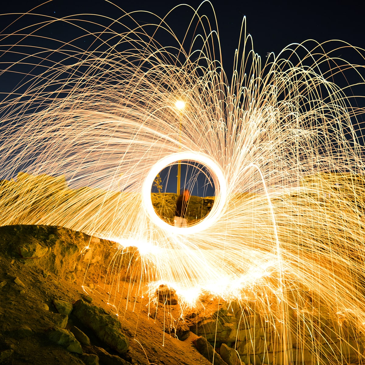 An Image Edited in Photoshop to Add Sparks