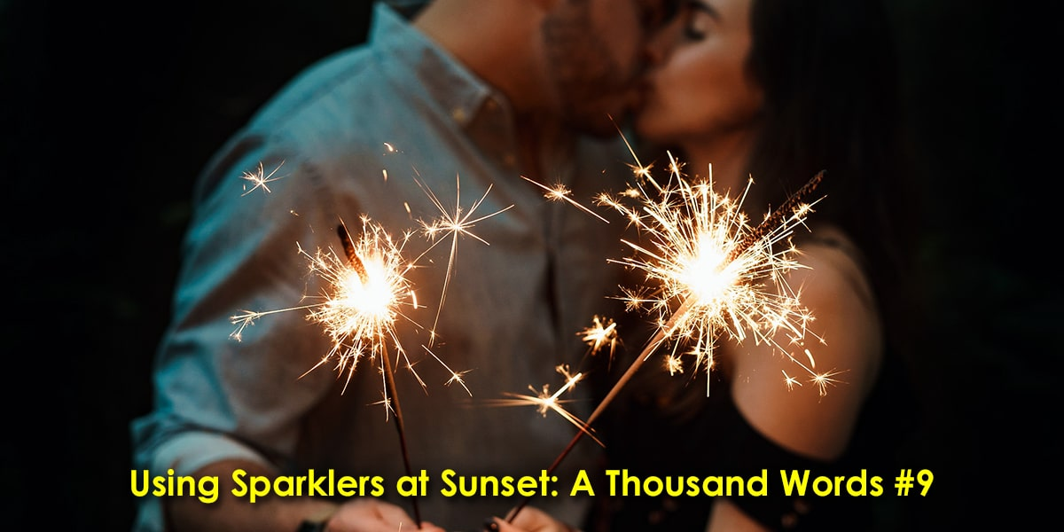 Image of Using Sparklers at Sunset