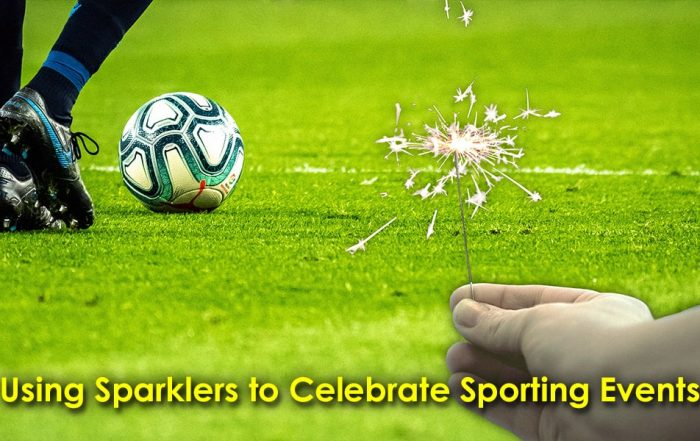 Image of Person Using Sparklers to Celebrate Sporting Events