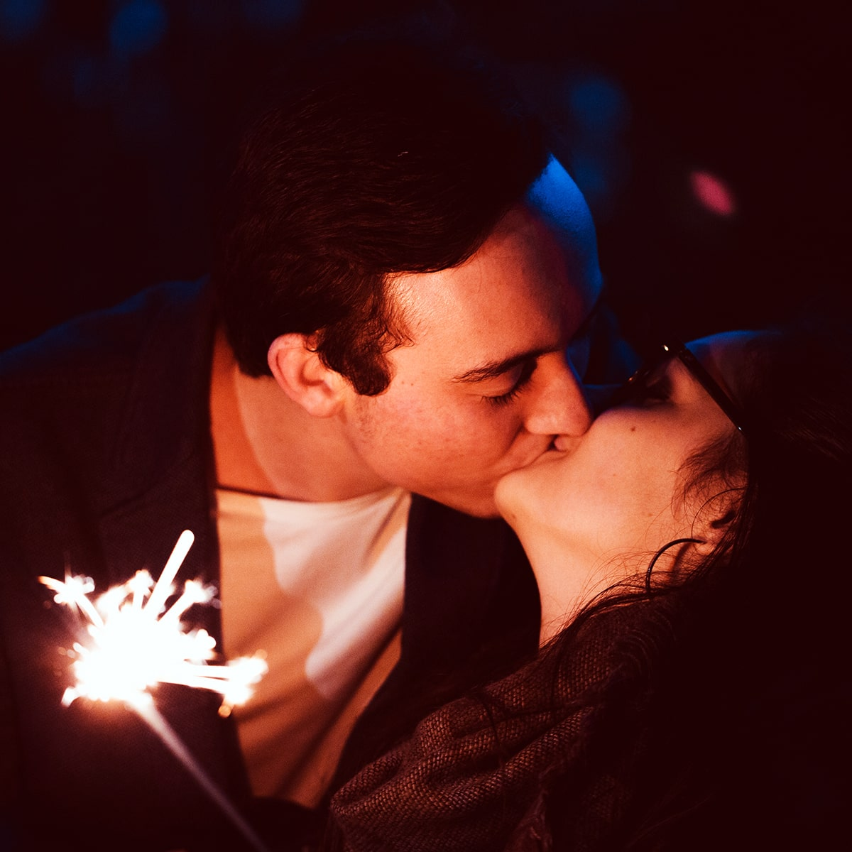 Image of a Sparkler Surprise on a Date Night
