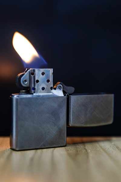 Image of Zippo Lighter Given as a Groomsmen Gift