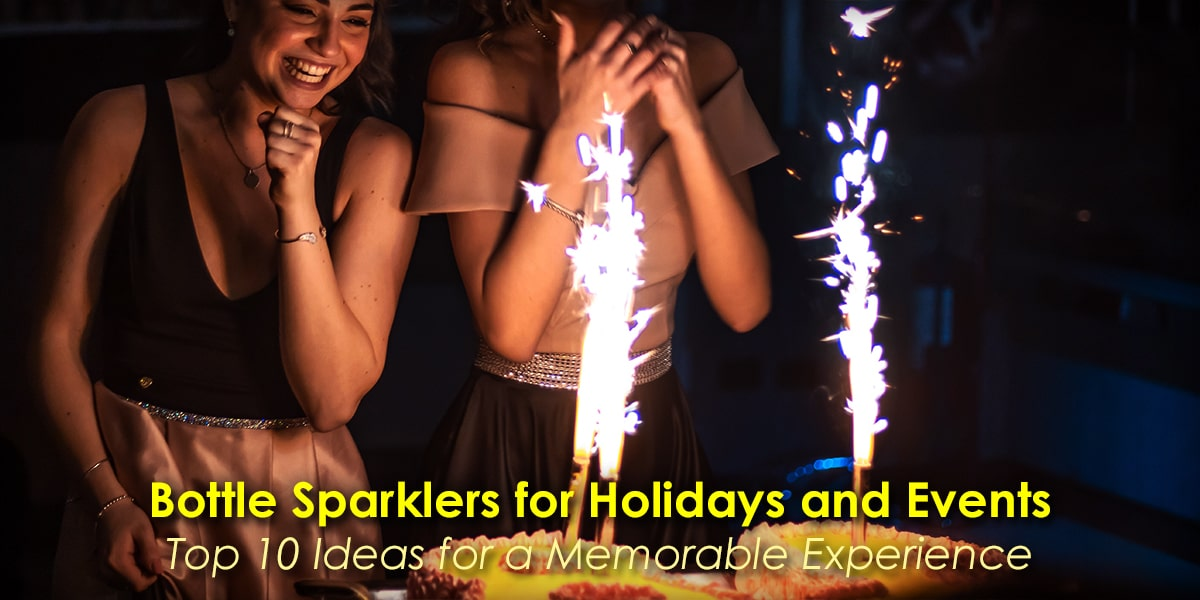 Image of Bottle Sparklers for Holidays and Events