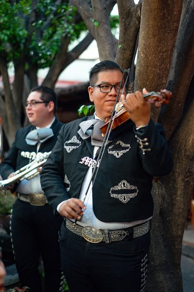 image of a Mariachi Band at an Outdoor Wedding