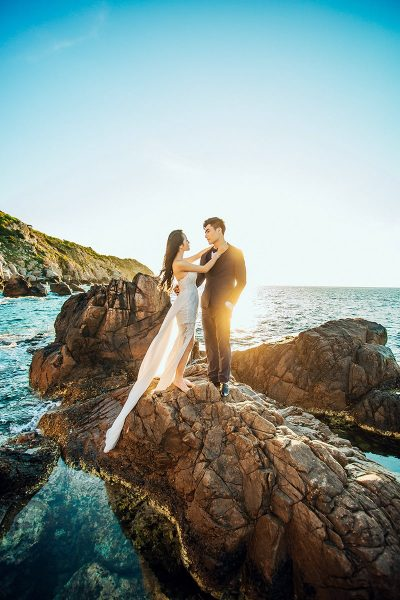 Image of a Couple at Their Summer Wedding