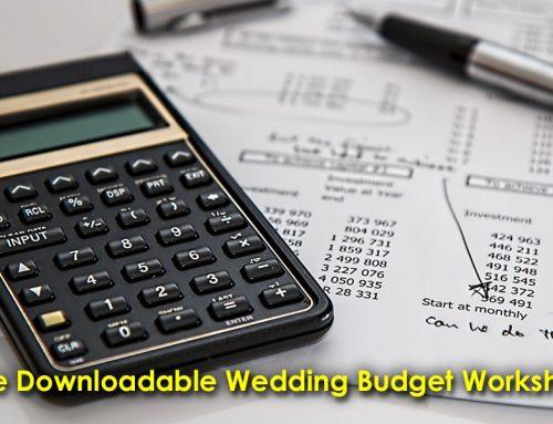 Free Downloadable Wedding Budget Worksheet