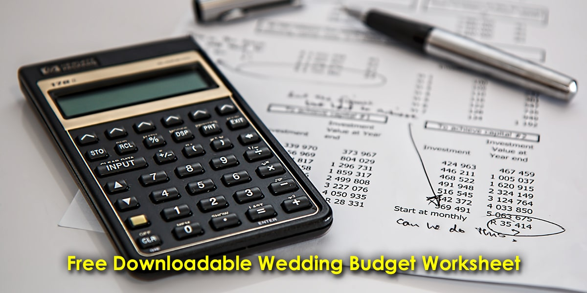 Image of a Wedding Budget Worksheet