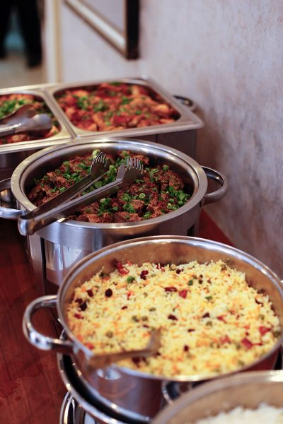 Image of a Large Selection of Food at a Banquet-Style Reception