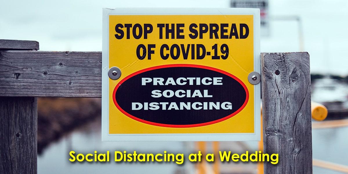 Image of Social Distancing at a Wedding