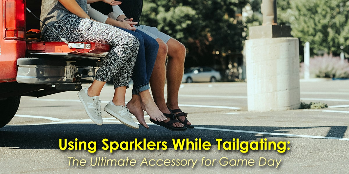 Image of People Using Sparklers While Tailgating